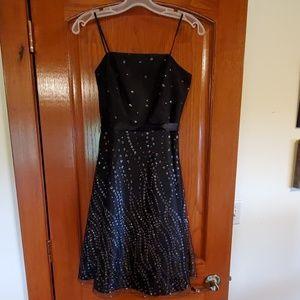 BCX black party dress sz 5